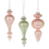 Midwest Frosted Finial Ornaments