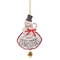 Midwest Snowman Ornament With Bell