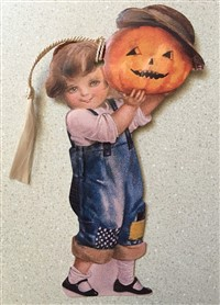 Blue Jean Girl Pumpkin Bookmark