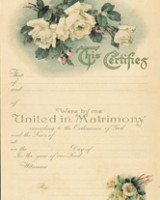White Rose Marriage Certificate