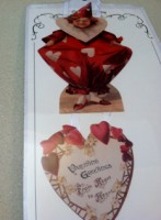Clown Heart Valentine Greetings On A Ribbon