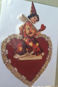Valentine Clown With Heart Pop-Up Card
