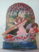 Cupids In Boat Pop Up Card