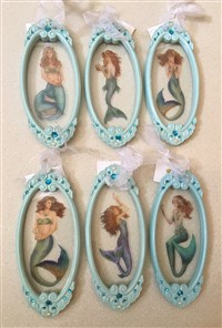 Mermaids On Glass Ornaments