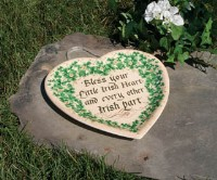 Irish Heart Plate Plaque