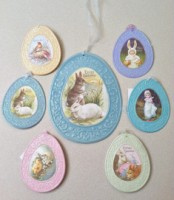 Embossed Tin Easter Egg Ornament or plaque