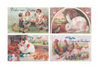 Vintage Image Easter Canvas