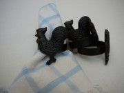 Park Hill Rooster Napkin Ring Set