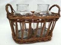 Park Hill Willow Double Milk Bottle Vase