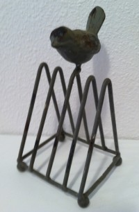 Park Hill Metal Letter Holder with Bird
