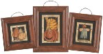 Framed Fall Mini Paper Cutout Prints