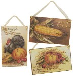 Large Harvest Postcard Vintage Image Plaque