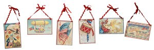 Small Americana Postcard Plaque Ornament