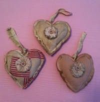 Stuffed Heart Ornaments