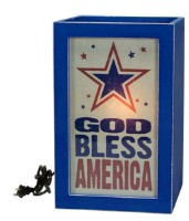 God Bless America Light Box
