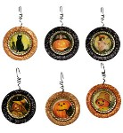 Halloween Bottle Cap Ornaments