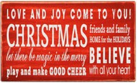 Christmas Love & Joy Box Sign