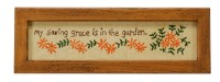 Garden Saving Grace Stitchery