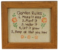Garden Rules Stitchery