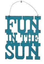 Fun In The Sun Tin Sign