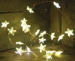 Stars on Copper Wire Lights Battery Operated