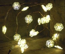 Snowflake Copper Wire Lights Battery Operated