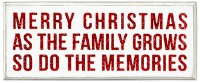 Merry Christmas Family Grows Box Sign