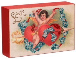 Valentine Love Cupid Shelf Sitter Plaque