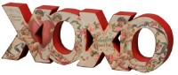 Vintage Chunky Valentine XOXO Word Sign