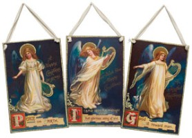 Vintage Postcard Image Angel Hang-Up
