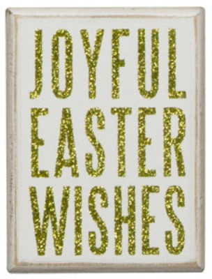 Joyful Easter Wishes Box Sign