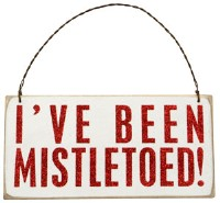 I've Been Mistletoed Sign