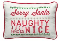 Sorry Santa Naughty Just Feels So Nice Pillow
