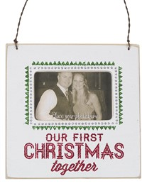 Fancy First Christmas Together Mini Frame
