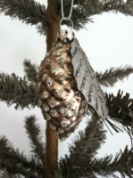 Pinecone With Leaf Ornament