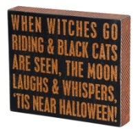 Near Halloween Box Sign
