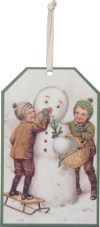 Snowman Small Tag Sign