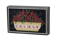 Believe Bowl Box Sign