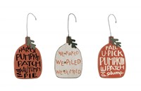 Harvest Pumpkin Ornament Set