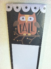 Brown Owl Fall List Notepad