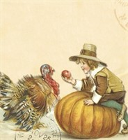 Thanksgiving Day Greetings List Notepad