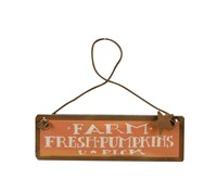 Farm Fresh Pumpkins Tiny Tin Sign