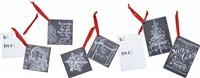 Chalk Christmas Wood Gifts Tags