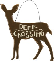 Deer Crossing Ornament