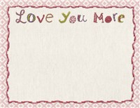 Love You More Notepad