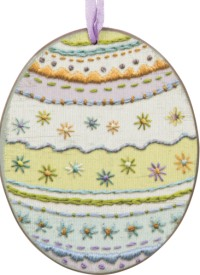 Decorated Easter Egg Large Ornament