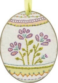 Spring Flowers Decorated Easter Egg Large Ornament