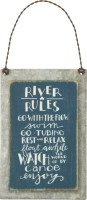 River Rules Sign
