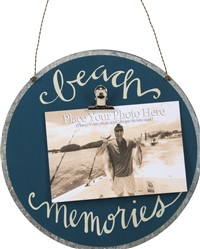 Beach Memories Tin Photo Sign