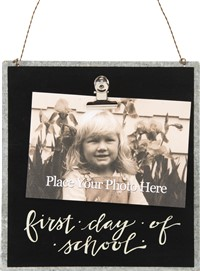 First Day Of School Photo Tin Sign